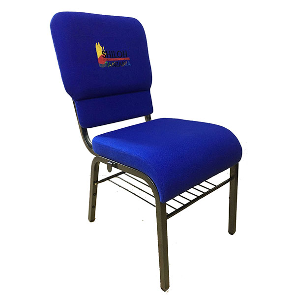 Fixed Competitive Price Powder Coat Metal Frame Church Chair -