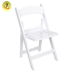 Slat pad resin folding chair SF-T10