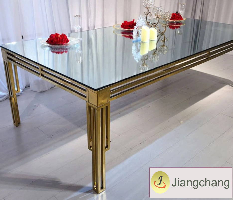 Rectangle glass top table SF-SS34 Featured Image