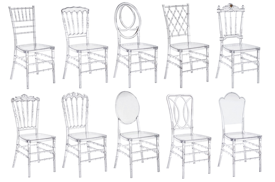 The material of clear chiavari chair