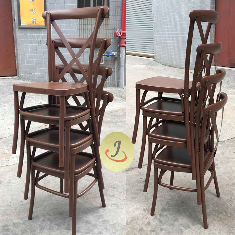 stack cross back chair