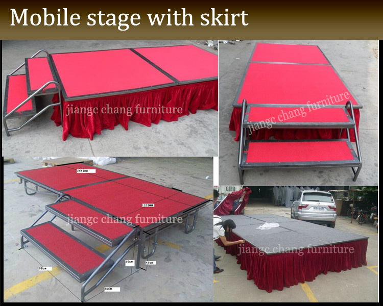 stage with skirt