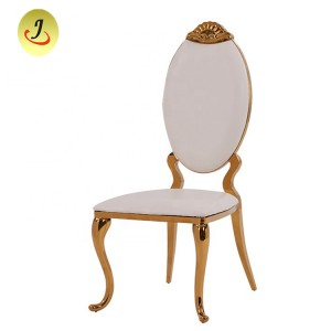 Chinese Factory Cheapstainless Steel Golden Dining Chair with Arm /Wedding Chair SF-SS025