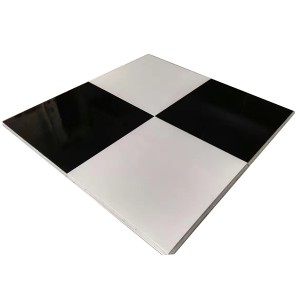Solid Black and White Dance Floor with party rent SF-W02