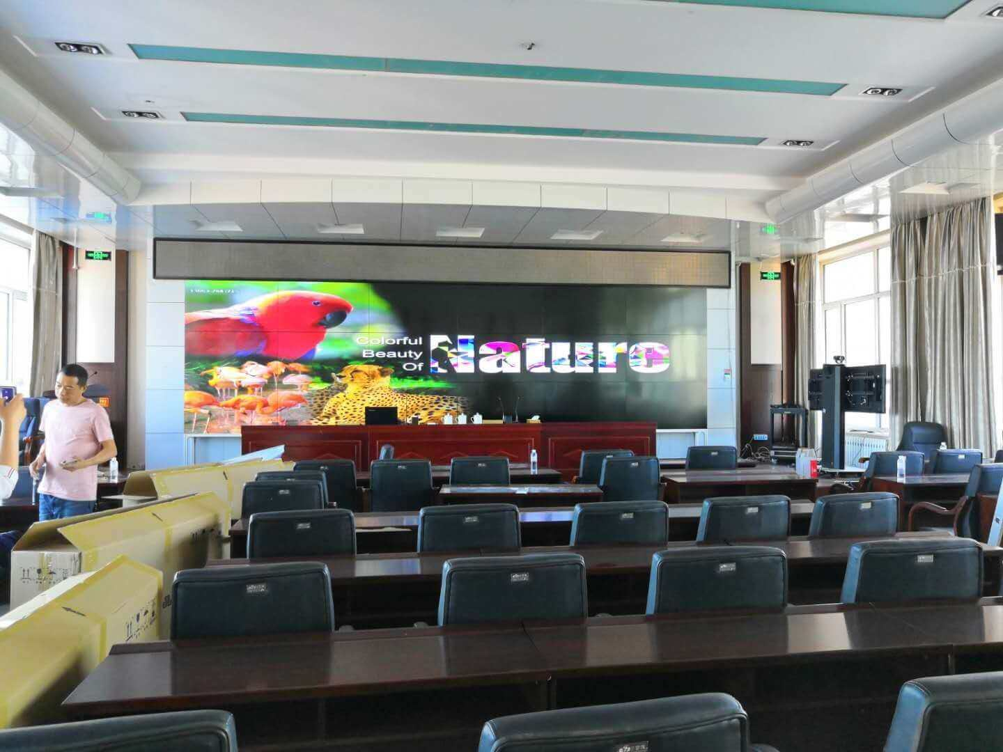 Video wall in meeting room