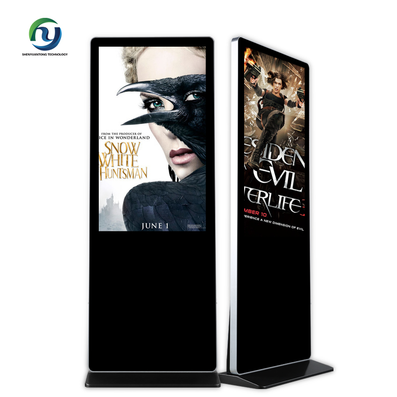 Interactive totem 55 inch touch screen media player digital kiosk player advertising screen