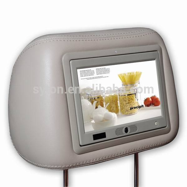9 inch lcd screen headrest advertising taxi digital signage