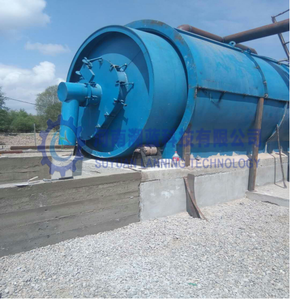 10-12TPD Tire/Rubber/PVC Plastic Pyrolysis Equipment Installation