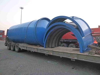 10-12TPD Tire Pyrolysis Equipment shipping to Georgia