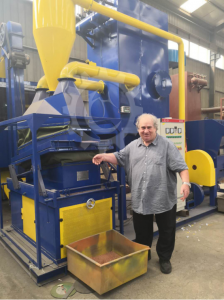 Hungary Customer's coming&inspecting for 500KG/H Dry Type Cable Granulating Plant/Cable Granulator /Cable Granulating Machine ordered in March
