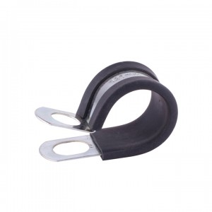Rubber Lined P Clip