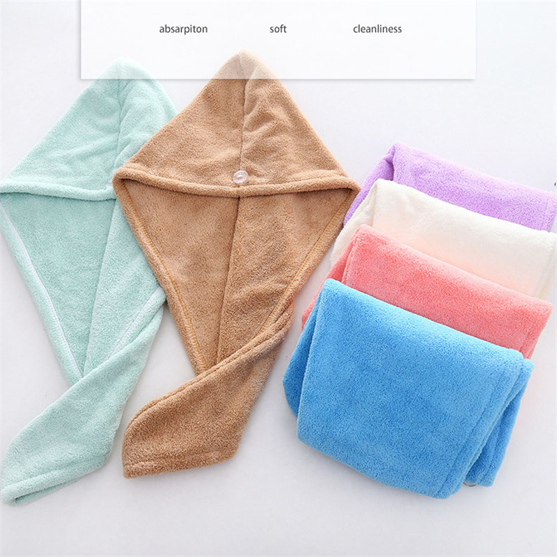 Microfiber Quick Drying Super Absorbent Thicken Women Fast Drying Hair Towel