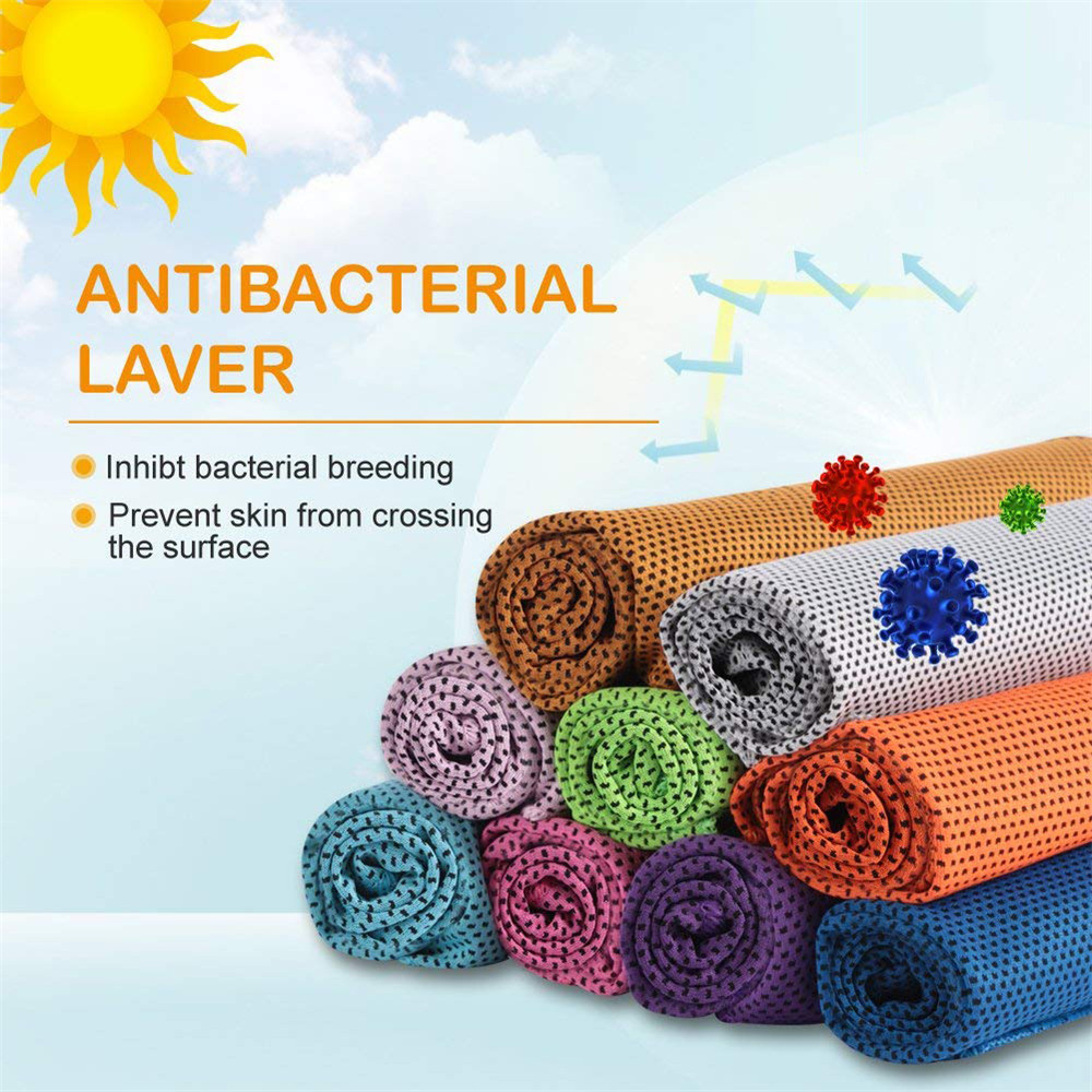 Microfiber Sport Towel Rapid Cooling Ice Face Towel Outdoor Sport Quick-Dry Ice Towels Summer Enduring Instant Chill Towel