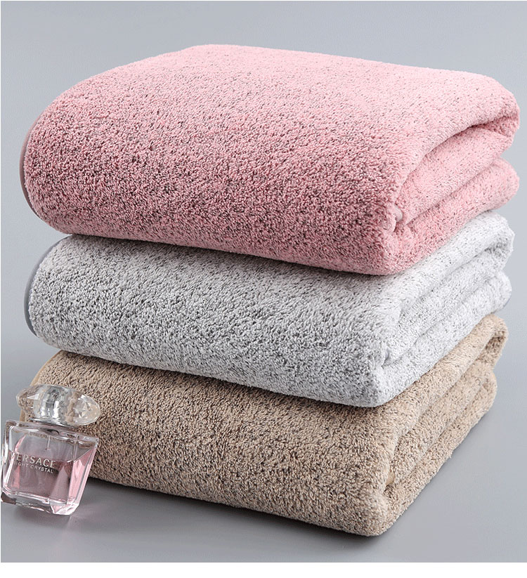 Soft Absorbent Microfiber Towel Charcoal Coral Velvet Bath Towel T-05
