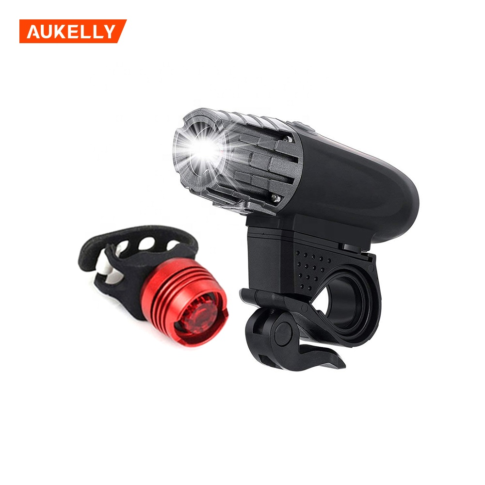 MTB Bike Light Kit Waterproof Cycling Light Built-in Battery Headlight Front Back lamp bicycle lights usb led rechargeable set
