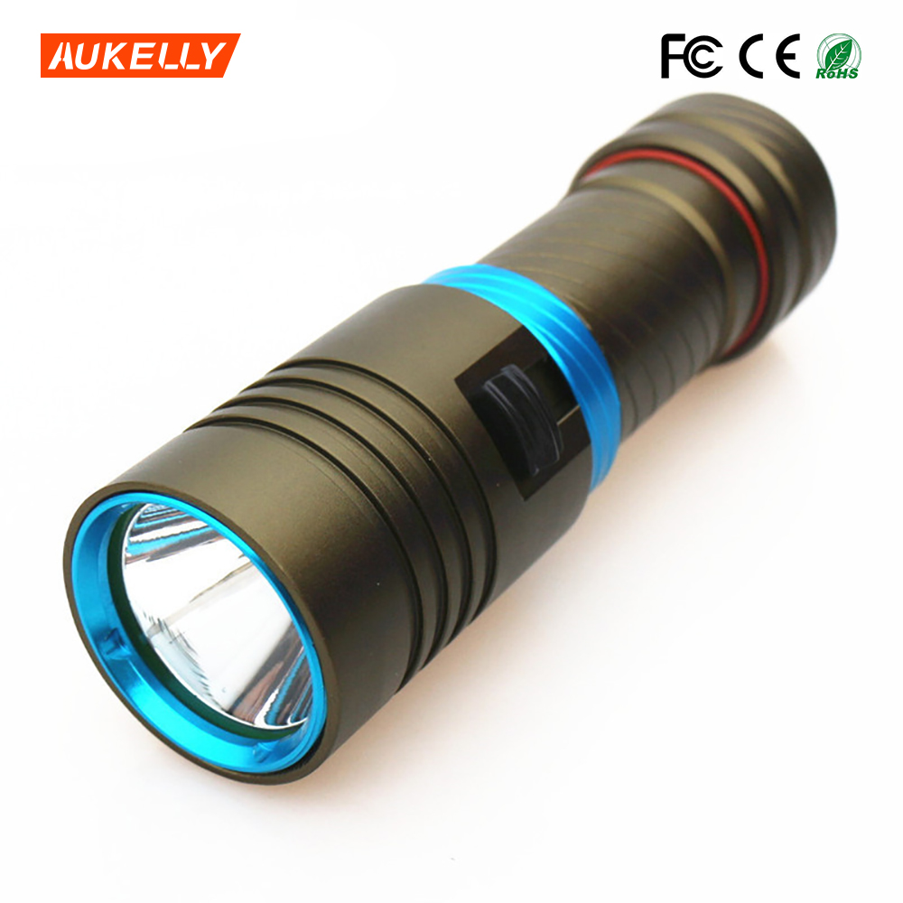Professional 18650/26650 Aluminum rechargeable L2 underwater led diving light