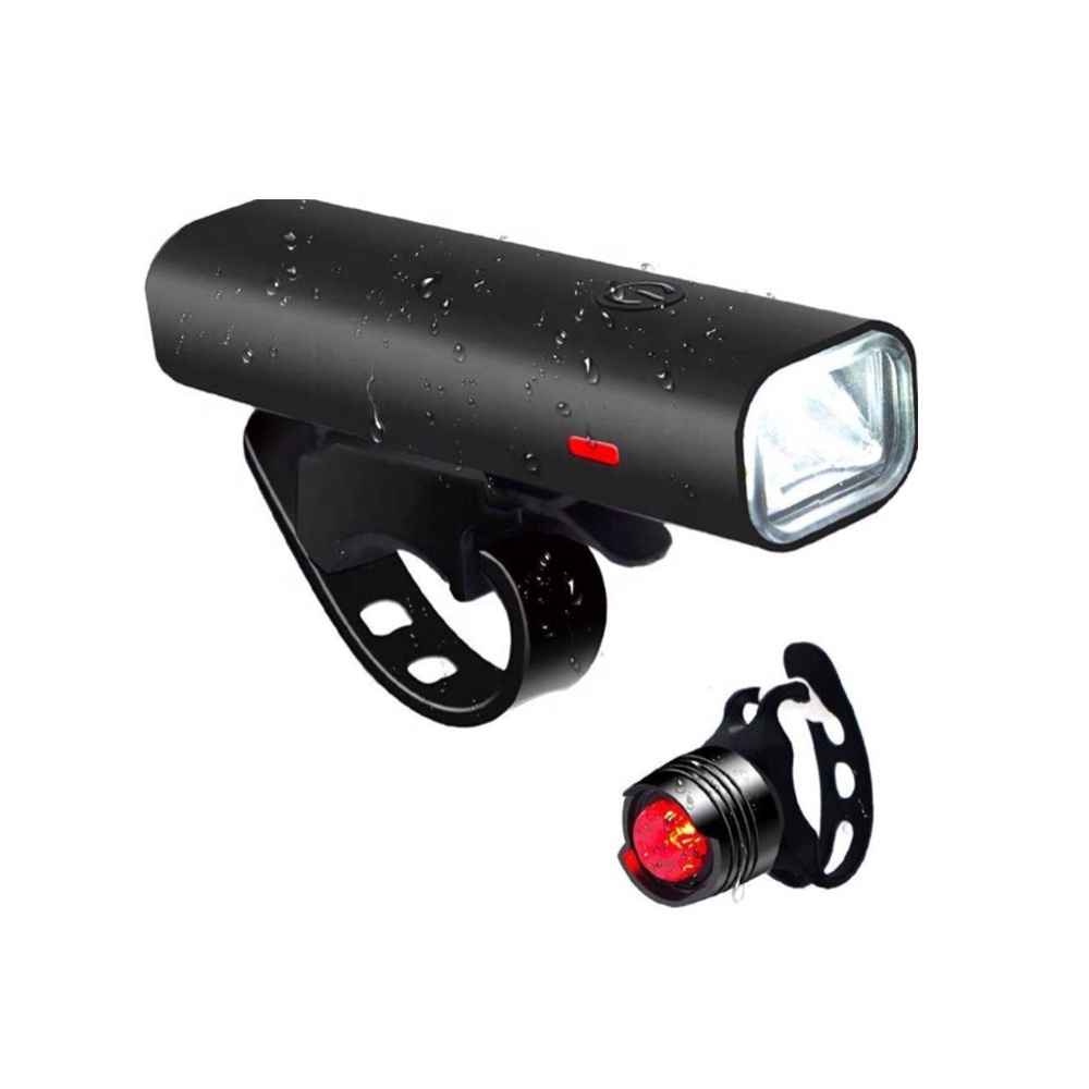 Waterproof Professional USB Rechargeable Cycling Bike Torch Kit MTB Led Front Lamp Tail Light Set Taillight  Bicycle Head Light