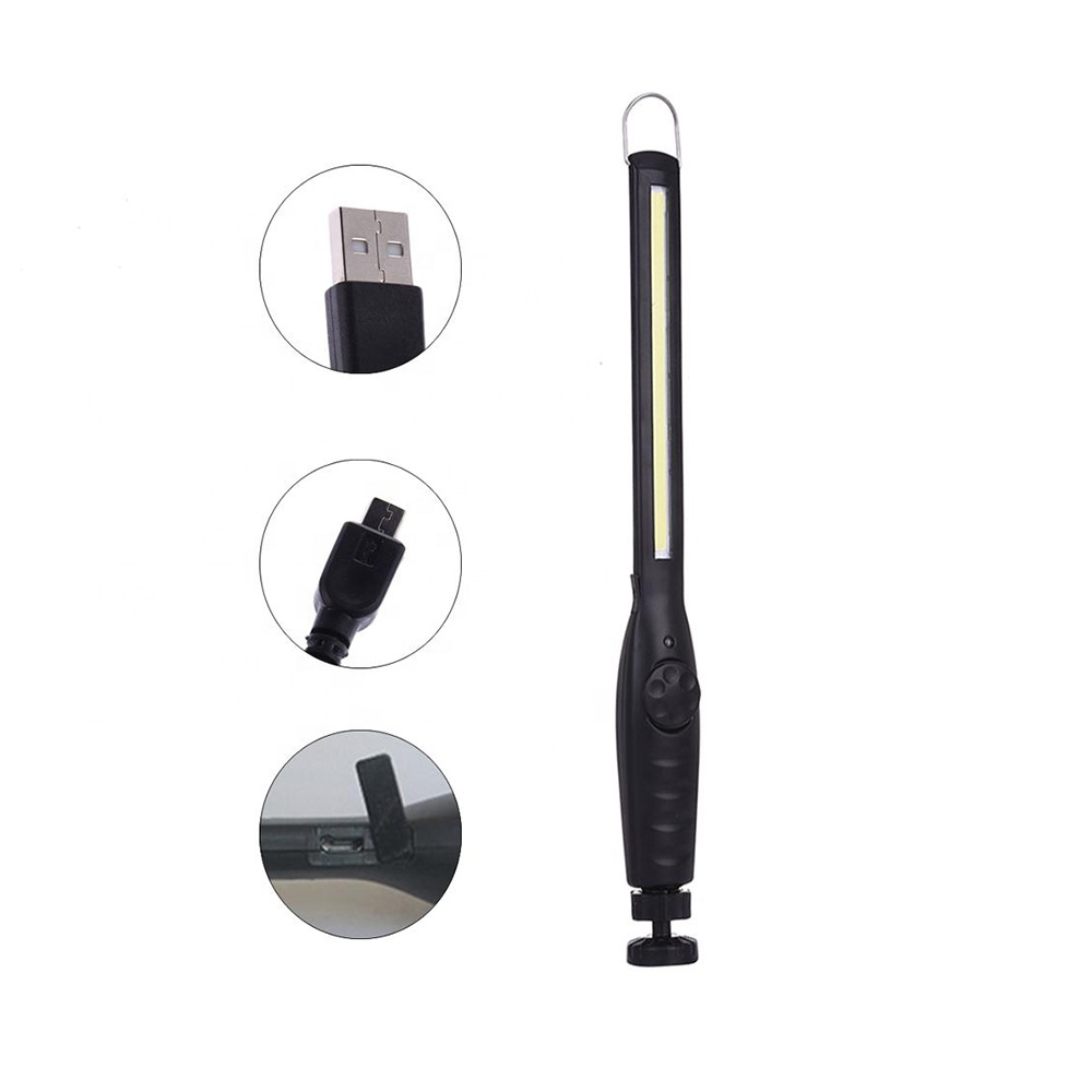 Rechargeable Portable Magnetic Base COB LED Slim Light Usb  Work Lamp WL8