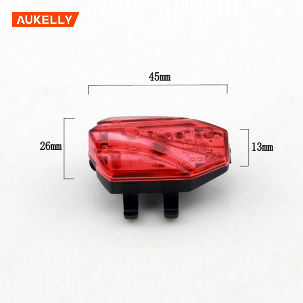 4 LED Waterproof  Safety Warning bicycle rear light usb rechargeable bike taillight