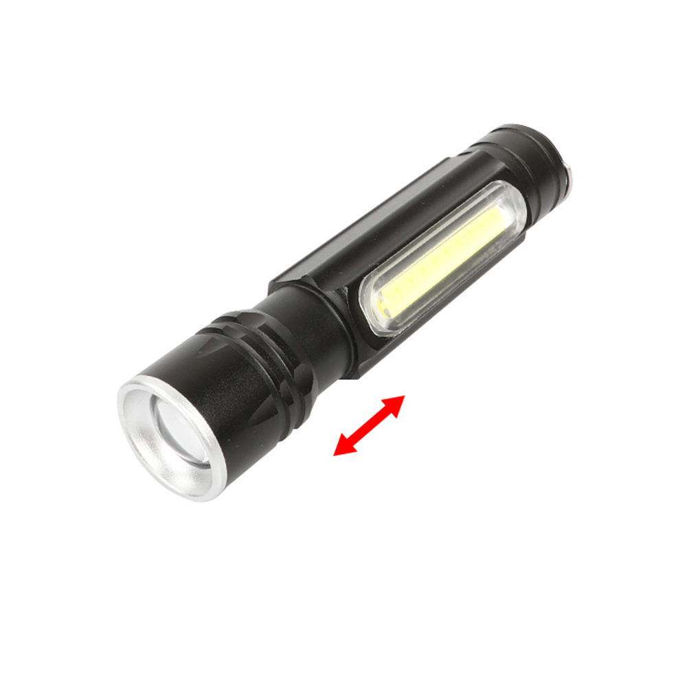 Aluminum alloy magnet hang USB rechargeable waterproof COB work Overhaul Lamp Pocket Torch Mini Zoom focusing XML T6 flashlight
