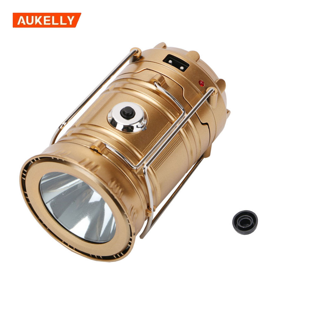 Folding 6 led solar camping lanterns led telescopic camping lights solar led camping lamp