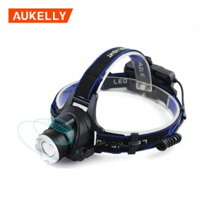 USB Rechargeable lighting headlamp china factory Tactical headlight