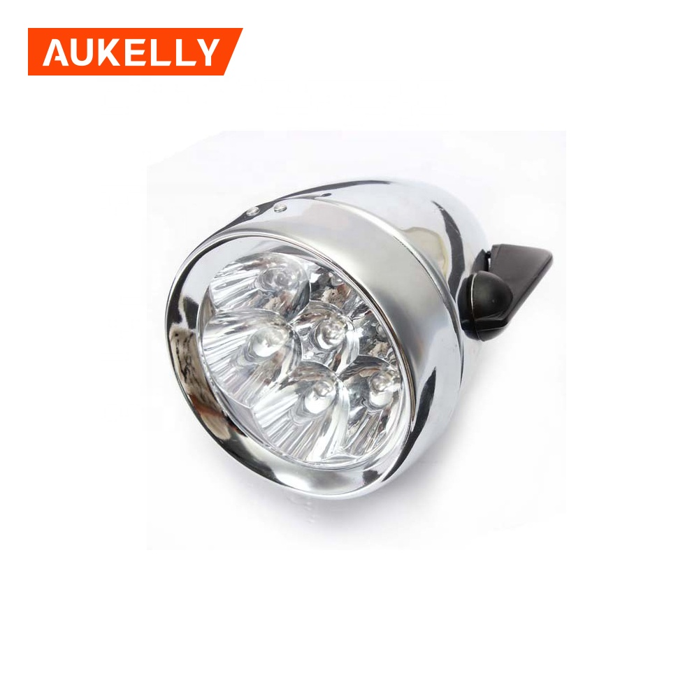 7 Led Bicycle Headlight Bike Front Light Retro Vintage Flashlight Lamps