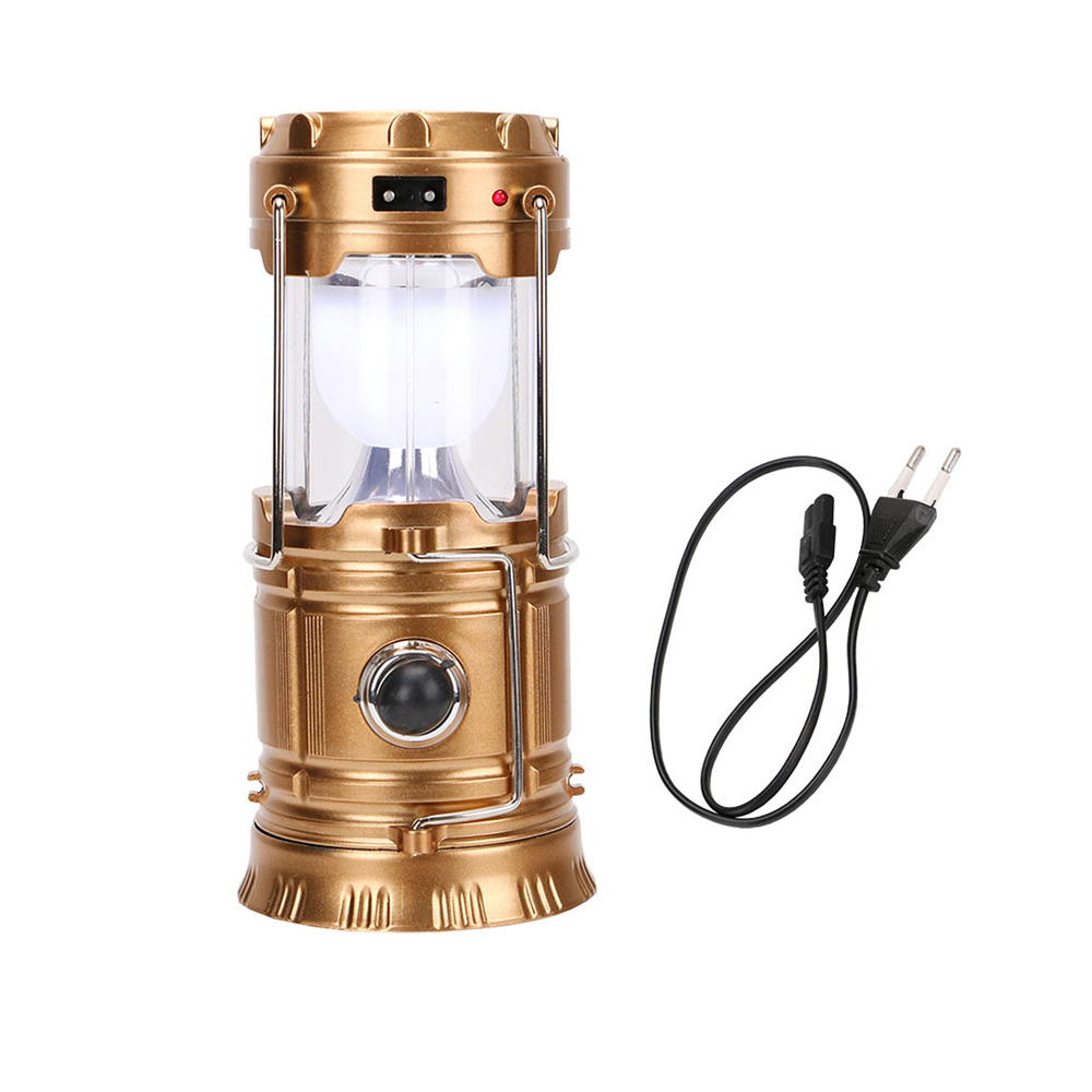 Foldable Solar 6+ 1 leds Hanging Direct Charge Camping Light Lamp/solar Home Camping lantern