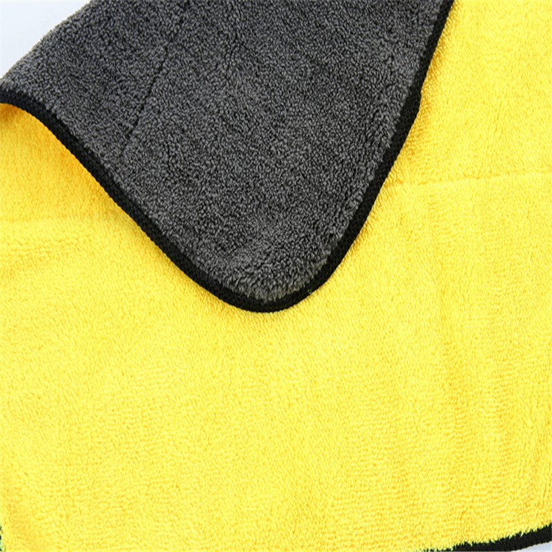 Microfiber Quick Drying Towel Thick Fiber Car Detail Cleaning Cloth Towels T-04