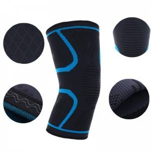Knitted nylon sports knee pads KS-02