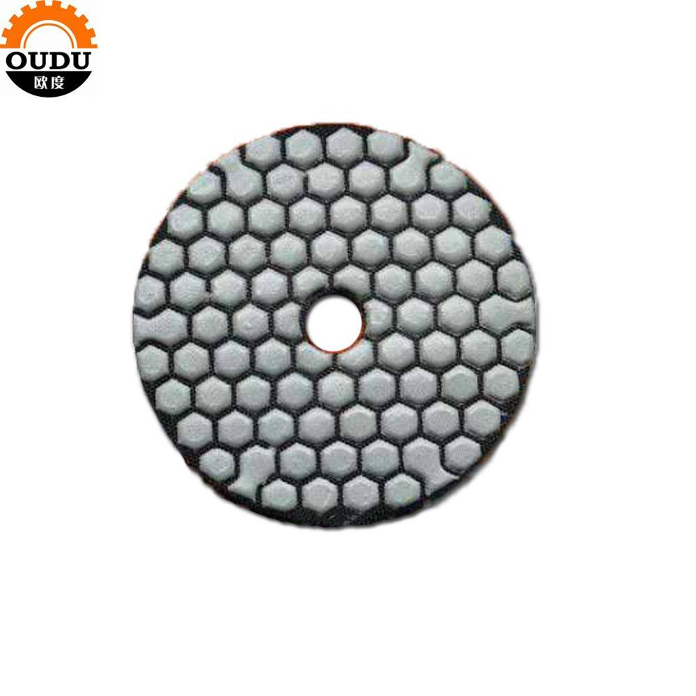 resin dry polishing pads for marble granite polishing