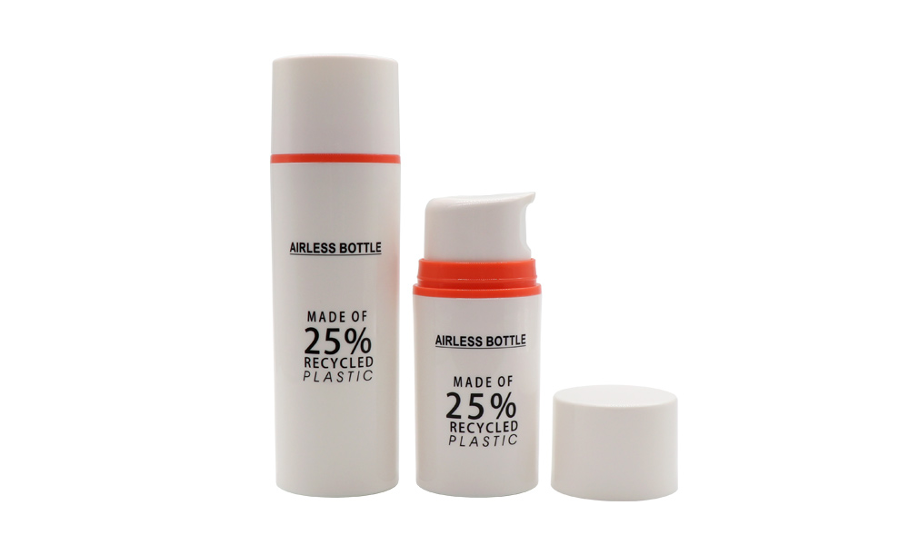 25% Recycled Plastic Eco-friendly PCR Material Packaging Airless Pump Bottle Featured Image