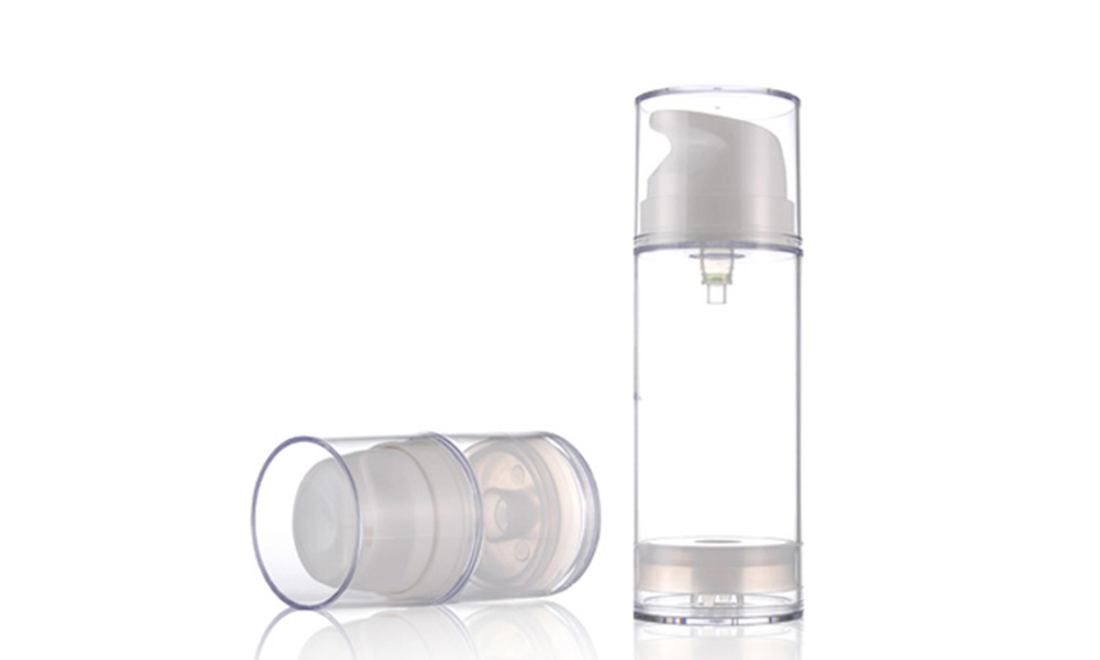 Skin Care Use Black Airless Pump Bottle for Men Skincare Packaging Featured Image