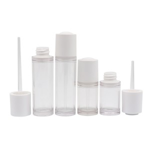 Custom Design Empty Clear 15ml 30ml Essential Oil Plastic Cosmetic PETG Dropper Bottle
