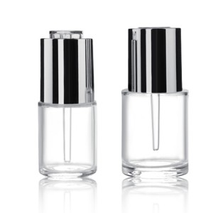 Cosmetic dropper bottle 18ml 30ml oil glass containers cosmetic skincare packaging