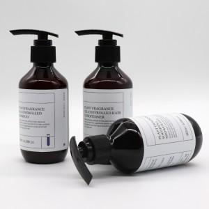 PET/PCR-PET Hand Washing Bottle Amber Plastic Shampoo Liquid Shower Bottle