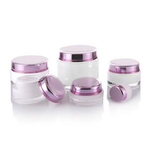 Custom acrylic double wall cream jar container