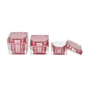 Empty cosmetic package 30g 50g 80g square acrylic cream jar