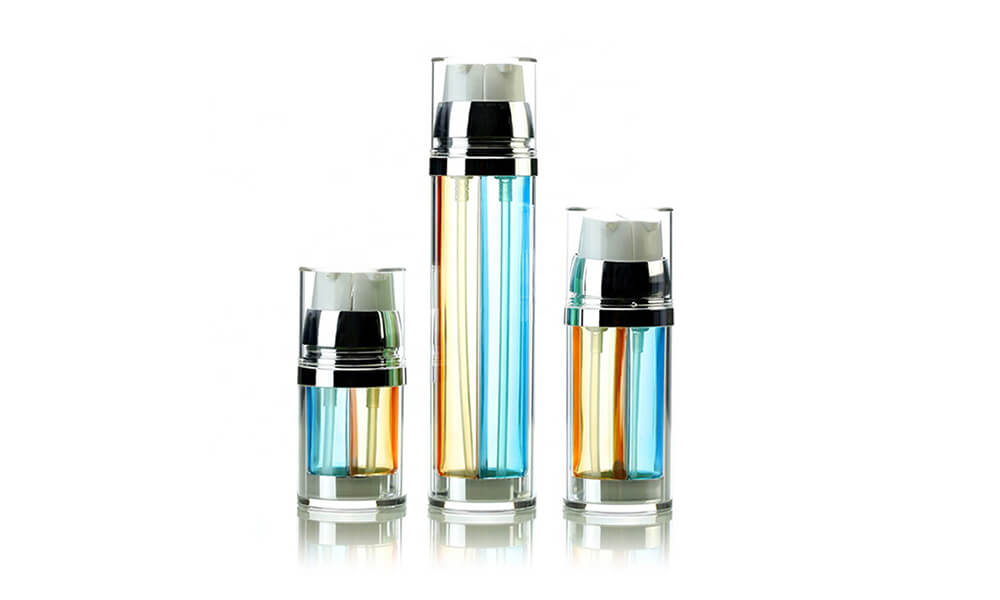 Acrylic Dual Chamber Cosmetic Lotion Pump Bottle 30ml 50ml 100ml Featured Image