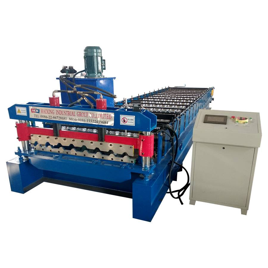 Low price for Sales Service Provided Trapezoid Roof Sheet Roll Forming Machine Featured Image