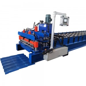 Best-Selling Zinc Glazed Tile Aluminium Roof Sheet Roll Forming Machine/Colored Steel Glazing Profile Panels Making
