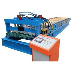 Factory Promotional Automatic Metal Colored Roofing Sheet Tile Roll Forming Making Machine