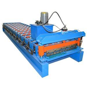 Special Design for Metal Roofing Trapezoid Iron Sheet Roll Forming Making Machine Hf