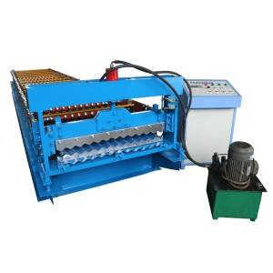 2019 wholesale price Color Steel Galvanized Metal Trapezoidal Roof Tile Sheet Roll Forming Machine