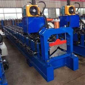 Bottom price Color Coated Corrugated Ridge Cap Roof Sheets Roll Forming Machine Ridge Cap Forming Machine