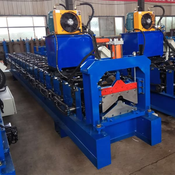 China Supplier Small Slitting Machine - Color Steel Ridge Cap roll Forming Machine – Haixing Industrial