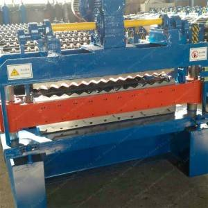 China OEM Metal Roofing Galvanized Aluminum Corrugated Steel Sheet Making Machine Colored Steel Wall Roof Panel Cold Roll Forming Machine