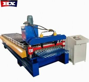 850 model corrugated metal PPGI roof sheet roll forming machine