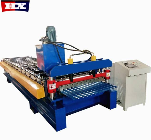 850 model corrugated metal PPGI roof sheet roll forming machine Featured Image