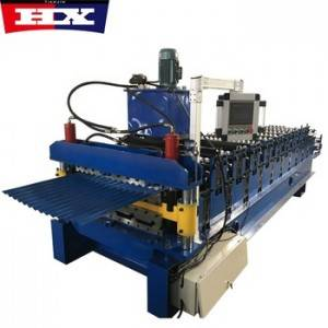 Model 840 850 trapezoidal and corrugated double layer roll forming machine